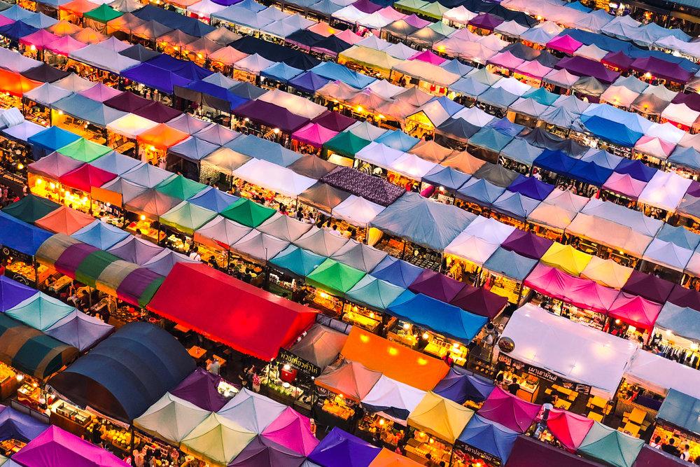 voyager thailande marché